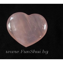 Фън Шуй Сърце от Розов кварц
