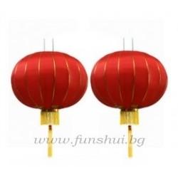 Фън Шуй Червен Китайски Фенер (Голям)