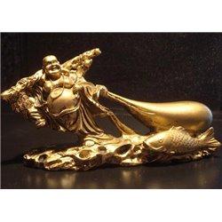 Фън Шуй Ходещият по водата Хотей със Златния Шаран