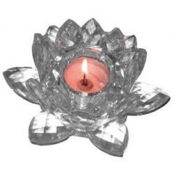 Фън Шуй Лотос кристален (свещник)