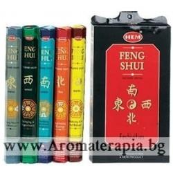 Фън Шуй Ароматни Пръчици - Комплект Фън Шуй Петте Елемента (Feng Shui Gift Pack) HEM Corporation