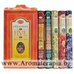 Фън Шуй Ароматни Пръчици - Комплект Пет Безценни Аромата (Five Gift Pack Incense) HEM Corporation