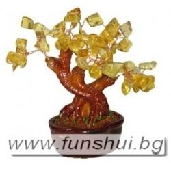 Фън Шуй Дърво на Промяна - Малко (Цитрин)