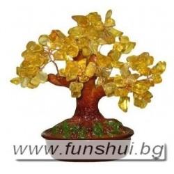 Фън Шуй Дърво на Промяна - Голямо (Цитрин)