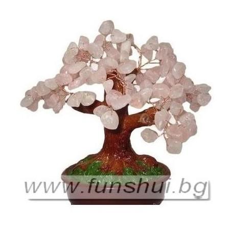 Фън Шуй Дърво на Любовта (Розов Кварц)