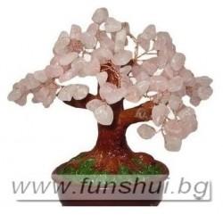 Фън Шуй Дърво на Любовта (Розов Кварц) - Голямо