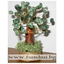 Фън Шуй Дърво на Равновесието (Зелен Ахат)
